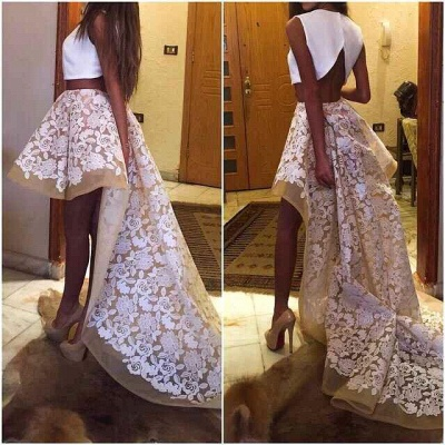 Gorgeous Two Pieces Prom Dress UKes UK Lace Cocktail Gowns_3