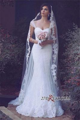 Straps Appliques Elegant Tulle Sweetheart Sexy Mermaid Wedding Dresses UK_2