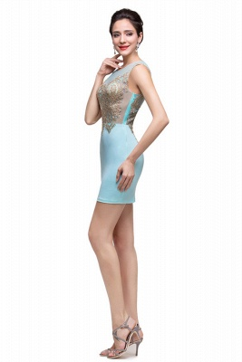 Sexy Sleeveless Short Homecoming Dress UK With Golden Appliques_4