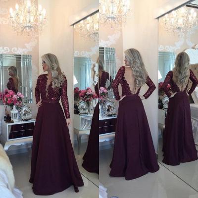 Gorgeous Long Sleeve Beadins Appliques Prom Dress UKes UK Long On Sale BT0_2