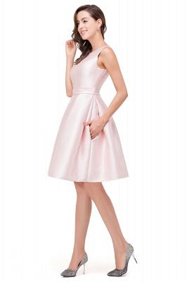 Lovely Pink Sleeveless Short Homecoming Dress UK Zipper Back_4
