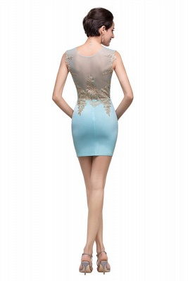 Sexy Sleeveless Short Homecoming Dress UK With Golden Appliques_3