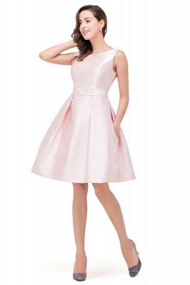 Lovely Pink Sleeveless Short Homecoming Dress UK Zipper Back_3