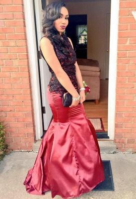 Luxury Open Back Mermaid Evening Dress UK Black Appliques On Sale BK0_1