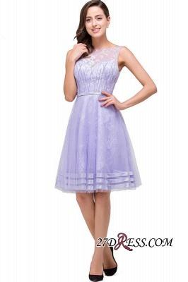 Sleeveless Lavender Lace Short A-Line Mini Homecoming Dress UK_5