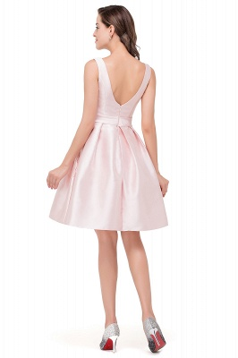 Lovely Pink Sleeveless Short Homecoming Dress UK Zipper Back_5