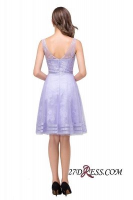 Sleeveless Lavender Lace Short A-Line Mini Homecoming Dress UK_6