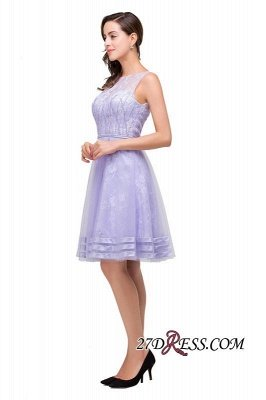 Sleeveless Lavender Lace Short A-Line Mini Homecoming Dress UK_4