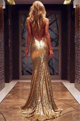 Open Back Sexy Formal Evening Dresses Cheap  Mermaid Sequins Prom Dress UK BA3586_7