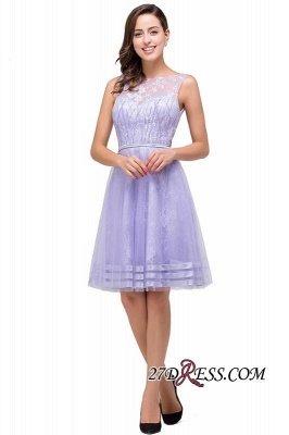 Sleeveless Lavender Lace Short A-Line Mini Homecoming Dress UK_3