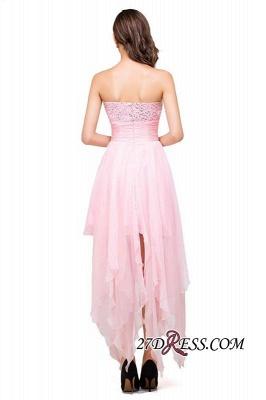 Chiffon A-Line Ruffles Crystal Sweetheart Mini Homecoming Dress UK_6