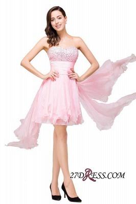 Chiffon A-Line Ruffles Crystal Sweetheart Mini Homecoming Dress UK_4