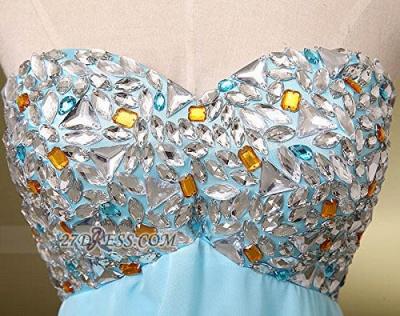 Elegant Sweetheart Sleeveless Short Homecoming Dress UK Colorful Beadings Lace-up Chiffon Cocktail Gown_4