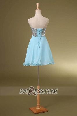 Elegant Sweetheart Sleeveless Short Homecoming Dress UK Colorful Beadings Lace-up Chiffon Cocktail Gown_3