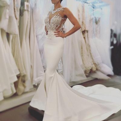 Lace wedding dress, Sexy Mermaid bridal gowns BA8049_3