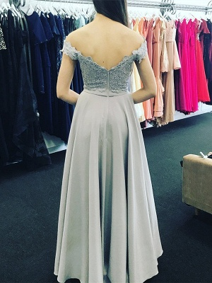 Sexy Off-the-Shoulder Evening Dress UK With Lace Appliques_3
