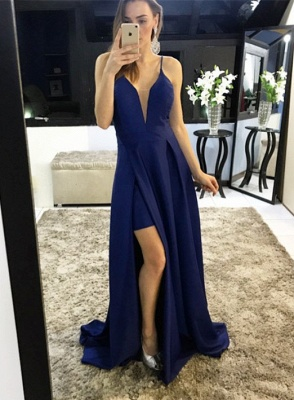 Sexy Spaghetti Straps Split Prom Dress UK Long Party Gown On Sale_3