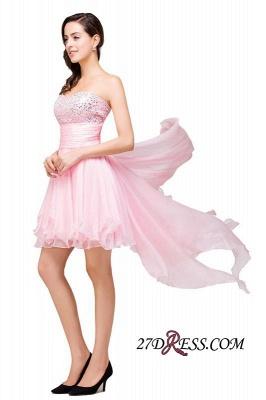 Chiffon A-Line Ruffles Crystal Sweetheart Mini Homecoming Dress UK_3