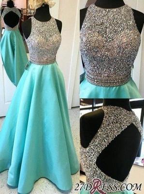 Floor-Length A-Line Sleeveless Crystal Luxury Halter Prom Dress UKes UK_2