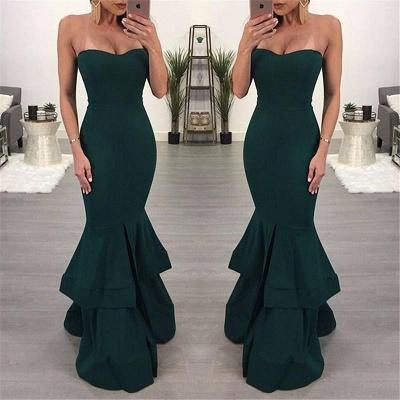 Elegant Black Mermaid Evening Dress UK | Ruffles Prom Dress UK With Slit_4