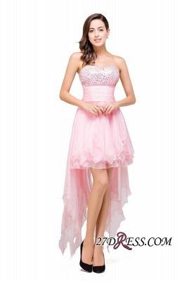 Chiffon A-Line Ruffles Crystal Sweetheart Mini Homecoming Dress UK_7