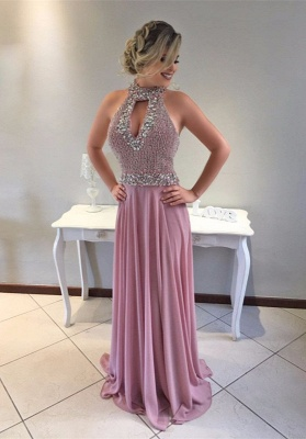 Luxury Halter Mermaid Evening Dress UK Long With Beadings_1
