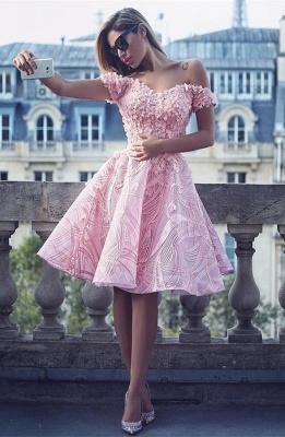 Lovely Off-the-Shoulder Homecoming Dress UK | Short Prom Dress UK Online_1