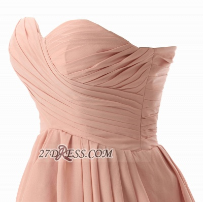 Lovely Sweetheart Sleeveless Chiffon Short Homecoming Dress UK With Zipper_2