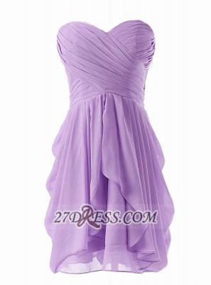 Lovely Sweetheart Sleeveless Chiffon Short Homecoming Dress UK With Zipper_1