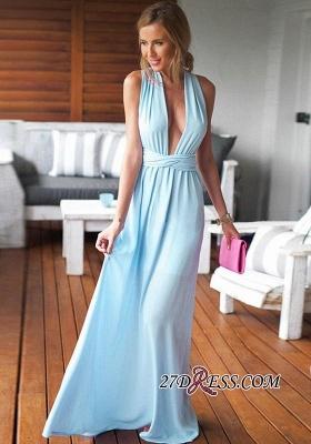 Sleeveless Floor-Length Long Criss-Cross Beautiful Prom Dress UK BA6970_3
