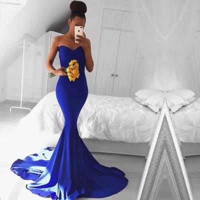 Sexy Sweetheart Mermaid Royal Blue Prom Dress UK Floor Length On Sale BA8046_3