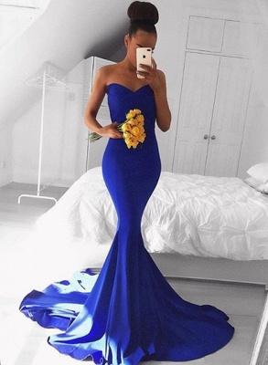 Sexy Sweetheart Mermaid Royal Blue Prom Dress UK Floor Length On Sale BA8046_1