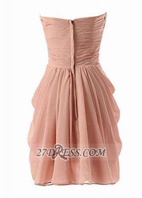 Lovely Sweetheart Sleeveless Chiffon Short Homecoming Dress UK With Zipper_3