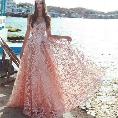 Sexy Off-the-Shoulder 2019 Evening Dress UK | Lace Appliques Prom Party Dress UK On Sale_3