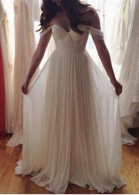 Elegant Off-the-shoulder Long Wedding Dress_1