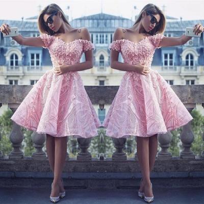 Lovely Off-the-Shoulder Homecoming Dress UK | Short Prom Dress UK Online_3