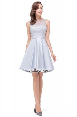 Short Lace Sexy Sleeveless Zipper Homecoming Dress UK_5