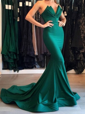 Designer Green Mermaid Evening Dress UK Long Party Gowns On Sale BA7134_1
