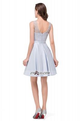 Short Lace Sexy Sleeveless Zipper Homecoming Dress UK_3