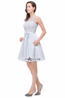 Short Lace Sexy Sleeveless Zipper Homecoming Dress UK_4