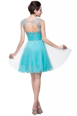 Luxurious Illusion Cap Sleeve Cocktail Dress UK Beadings Crystals Tulle Short Homecoming Gown CPS170_3