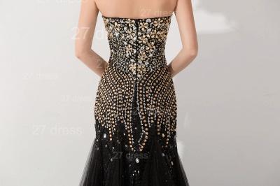 Gorgeous Sweetheart Sleeveless Mermaid Evening Dress UK Crystals Sweep Train_4