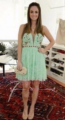 Crystal Lace Empire Sweetheart Sleeveless Mini Homecoming Dress UKes UK_1