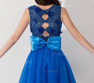 Modern Royal Blue Short Cocktail Dress UK Sleeveless Beadings Bowknot_3