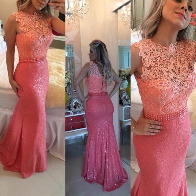 Timeless Sleeveless Lace Pearls Prom Dress UKes UK Mermaid Long Zipper Back BT0_4