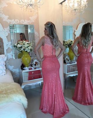 Timeless Sleeveless Lace Pearls Prom Dress UKes UK Mermaid Long Zipper Back BT0_3