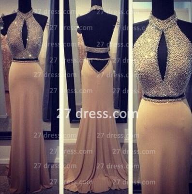 Stunning Backless Long evening Dress UKes UK Halter Chiffon Beading Prom gown_2