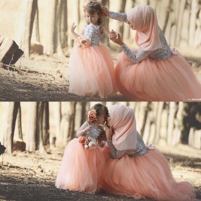 Lovely Tulle Sequined Flower Girl Pageant Dress Jewel Sleeveless_3
