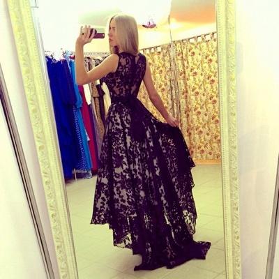 Modern Jewel Sleeveless Lace Prom Dress UK Sweep Train_2