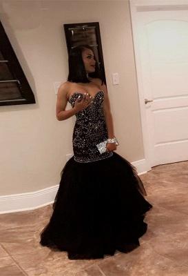 Sweetheart mermaid prom Dress UK, long evening Dress UK with beads BK0_2